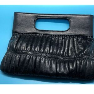 EXPRESS DESIGN STUDIO BLACK CLUTCH HANDBAG PURSE